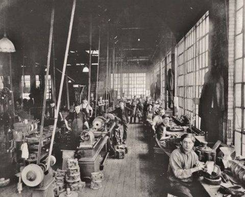 Glass Factory Workers